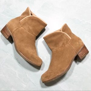 UGG suede leather camel tan ankle boots size 7.5